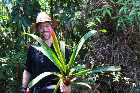 Man holding a large plant